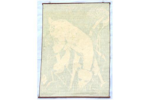 Retro bonad May Buhler – Betande radjur batik baksida helhet