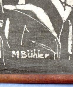 Retro bonad May Buhler – Betande radjur batik signatur