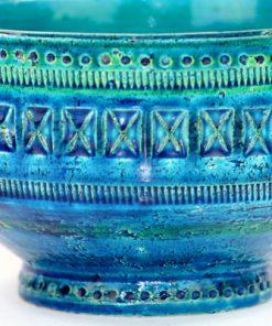 Bitossi Rimini Blu 43130/920 stor skal Aldo Londi detalj