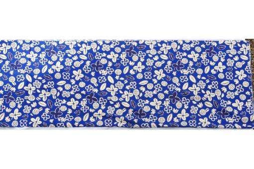 Retrotyg – Blatt med vita blommor och frukter bomull helhet
