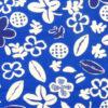 Retrotyg – Blatt med vita blommor och frukter bomull monster