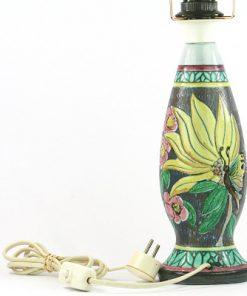 Lampa Alms Keramik B31 av Edit von Löwenhielm detalj blomma fjaril