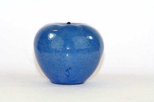Blatt keramik-apple - Bla-sprackligt unikt fint apple helhet
