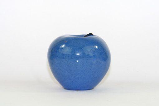 Blatt keramik-apple - Bla-sprackligt unikt fint apple overblick