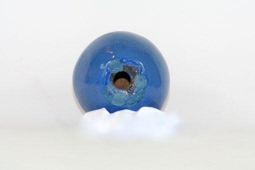 Blatt keramik-apple - Bla-sprackligt unikt fint apple undersida