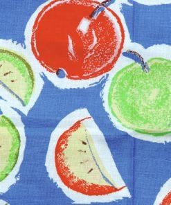 Bilden visar Katarina Jacobson retrotyg Frukter 1992 design för Åhléns mönsterdetalj