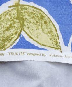 Bilden visar Katarina Jacobson retrotyg Frukter 1992 design för Åhléns signatur