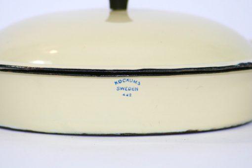 Kockums Cream Lux 482 - Emalj klassisk karott detalj stampel