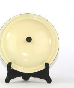 Kockums Cream Lux 482 - Emalj klassisk karott ovansida lock