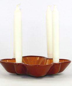 Bilden visare Gabriel Keramik Adventsljusstake 850 - Adventsskål helhet med fyra ljus