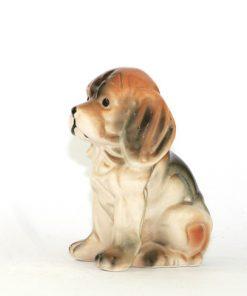 Bilden visar en figurin, hund Hamilton-stövare andra sidan