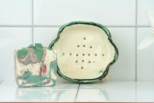 Tvålkopp keramik handgjord tvål – Bollnäs Birch isidan