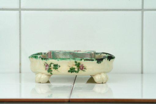 Tvålkopp keramik handgjord tvål – Bollnäs Birch liggande med tvål
