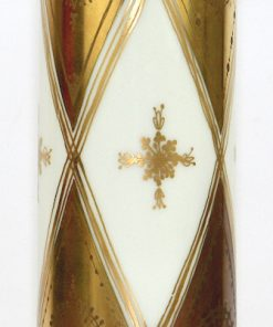 Bilden visar Bjørn Wiinblad stor vas Quatre Couleurs guld Rosenthal detalj mitt