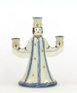 Bilden visar Bo Fajans Figurin ljusstake Lucia - Signerad Yozo B.