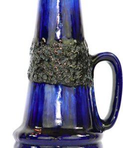 Bilden visar Scheurich 400-22 vas – Unik blå Fat Lava keramik detalj lavaglasyr