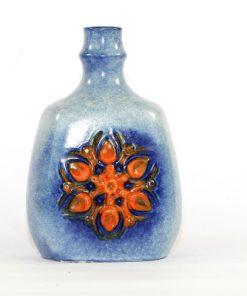 Bilden visar Strehla Keramik 1271 vas – VEB Made in GDR helhet