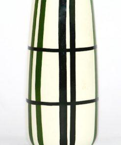 Bilden visar Strehla Keramik 897/1 vas Handgemalt svart vit detalj