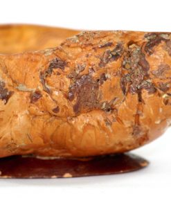 Bilden visar Vrilskål – Masurknöl mindre rustik skål av ådrad björk insida detalj