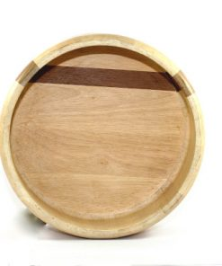 Bilden visar Arabia Design Salladskål - Stor träskål björk teak insida