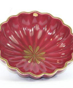 Bilden visar Arthur Percy – Röd Rubin skål 153 / 30 dekor Eugen Trost insida