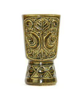 Bilden visar Bay Keramik vas 96-77 Bodo Mans olivfärgad