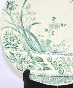 Bilden visar Gustavsberg tallrik Peking grön – Arvid Ekberg 1905 detalj