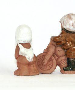 Bilden visar Figuriner JIE Gantofta - Motorcyklist & simmerska 1970-tal baksida