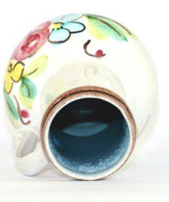 Bilden visar Strehla vas 9021 – Keramik med hänkel blommor pasteller insida