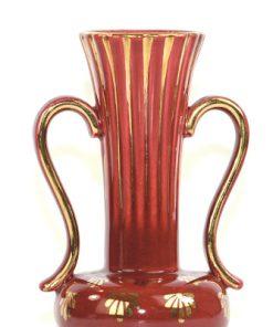 Bilden visar Arthur Percy – Röd Rubin vas 1054 dekor Eugen Trost detalj