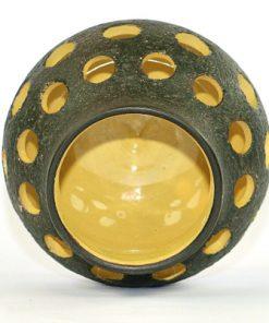 Bilden visar Kjell Blomberg keramiklykta – Gabriel Keramik C2 1960-tal insida