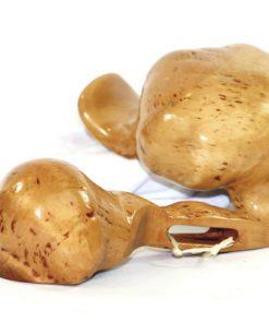 Bilden visar Rotskål och skopa björk – Snidad vrilskål kåsa masurknölar detalj undersidor