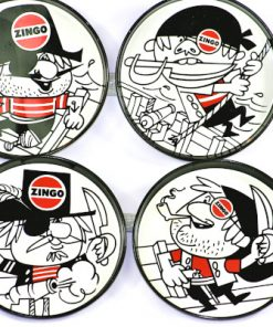 Bilden visar Zingo underlägg coasters - Försvinnande god detalj fram