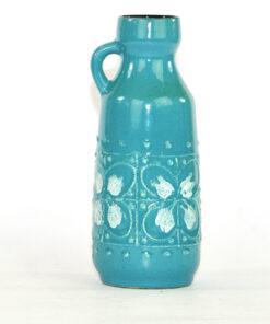 Bilden visar Strehla Keramik 998 turkos vas – Fat Lava GDR