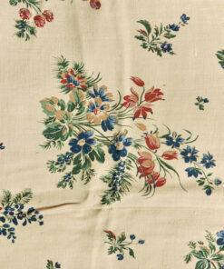 Bilden visar Retrotyg - Blommor sepia 1930-tal viskos eller bomull detalj
